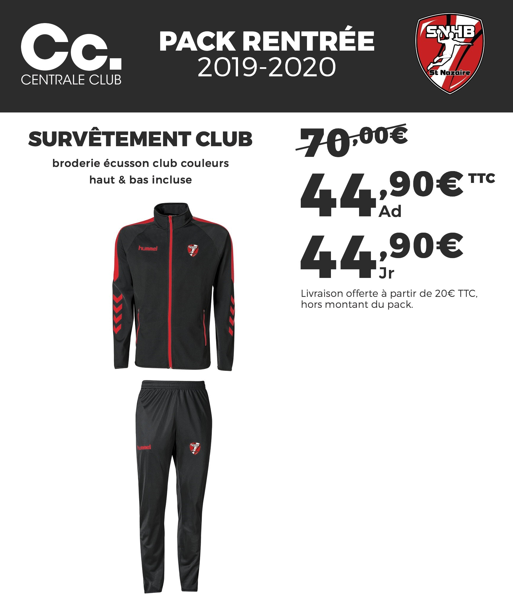 Pack Survêtement junior